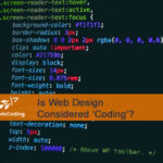 Is Web Page Design Considered 'Coding'?