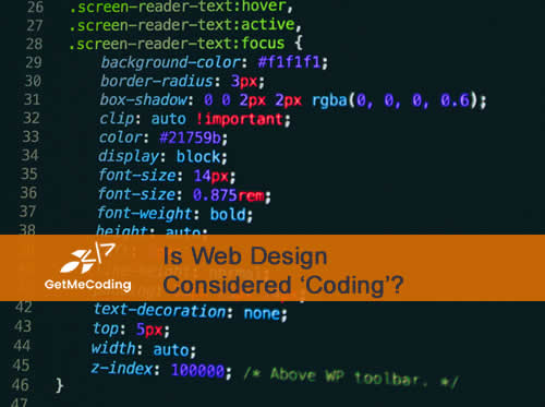 GetMeCoding.com Is Web Design Considered Coding?
