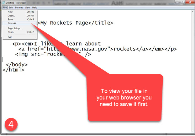 GetMeCoding HTML Example Step 4