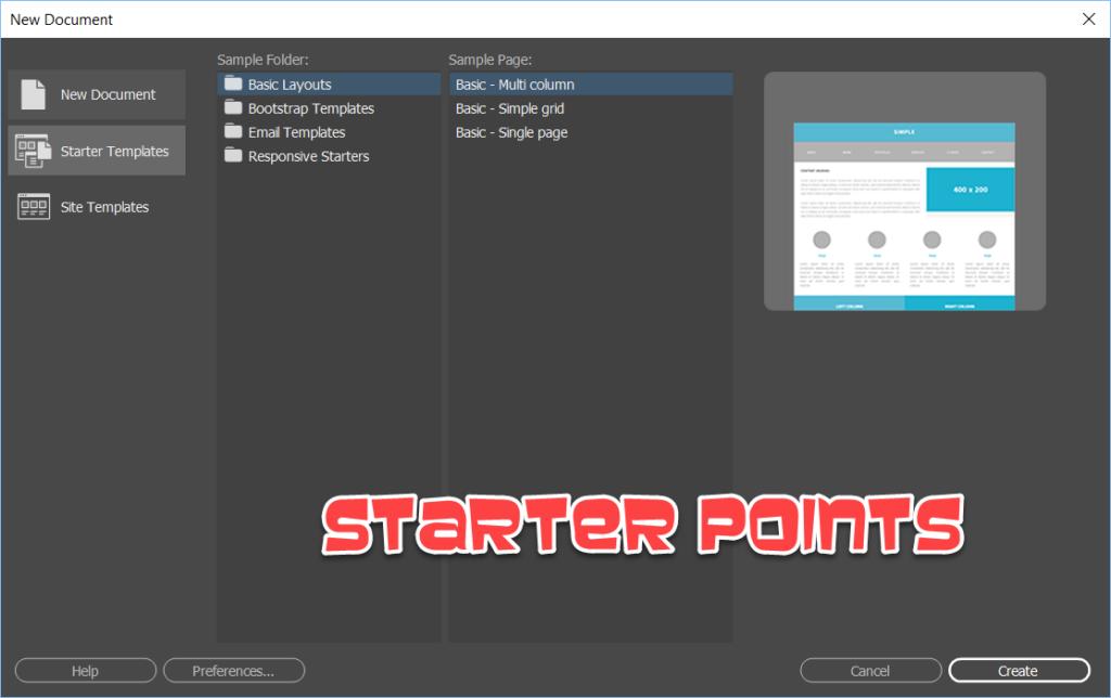 Adobe Dreamweaver Starter Points GetMeCoding