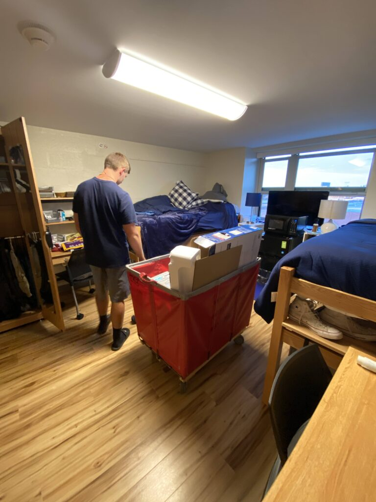 Moving into the dorm