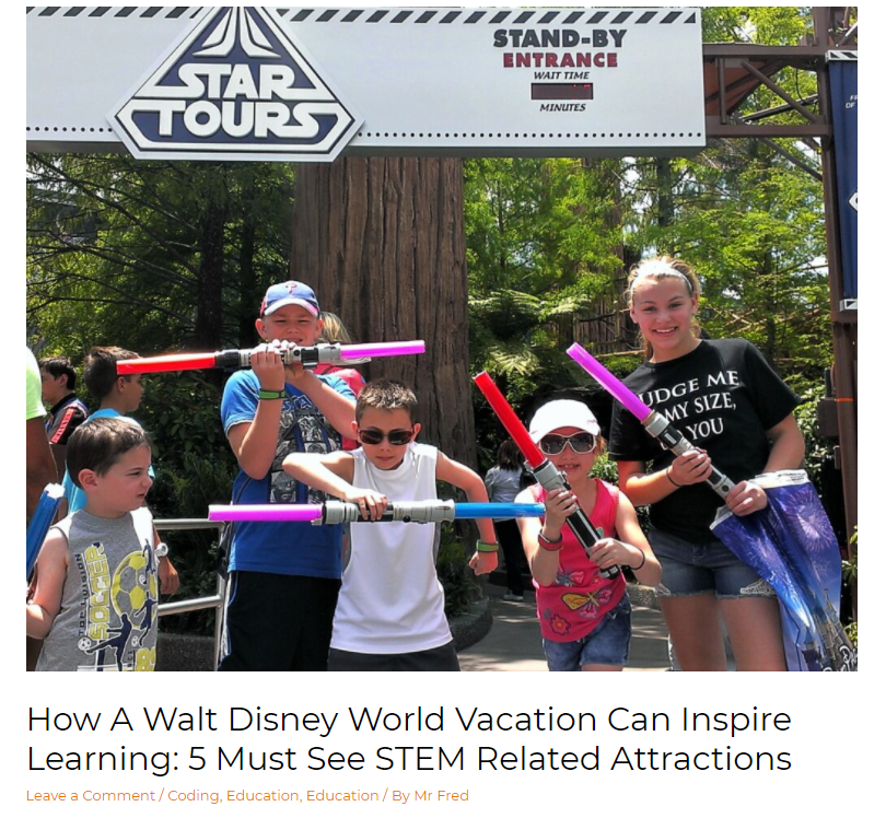 GetMeCoding Disney STEM Attractions