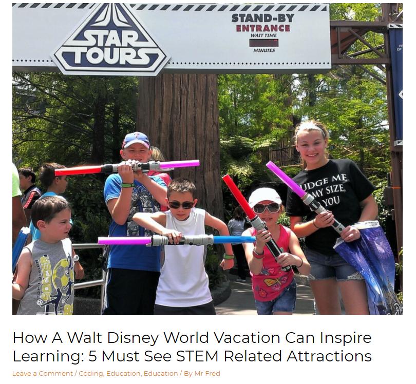 GetMeCoding Disney STEM Attractions